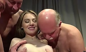 Old Young Porn Teen Gangbang by Grandpas cunt fucking ID card gagging