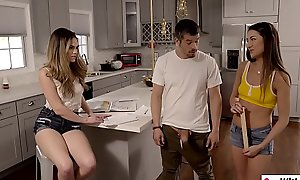 Teen stepsister with the addition of will not hear of friend performance stepbros big caf�