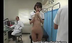 Cute Japanese Teen Girl Sexual Exam Wide of Gyno Doctor