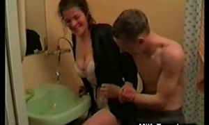 MILF Tries Hard Teen Cock