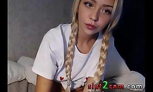 Russian Petite Legal age teenager Pigtails - sex  SLUT2CAM XNXX fuck photograph