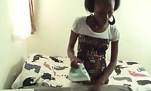Young African teen working as multifarious gal pleasured bareback bonking