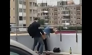 teen clip caught having coitus at terrace seen hard by teach