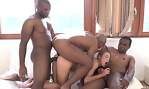 Teen Nympho Alexis Crystal receives Blacked wide of 3 bulls together with creampied perfectly holes