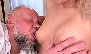 Curvy Teen Fucking Grandpa Cock - Bianca Booty and Albert