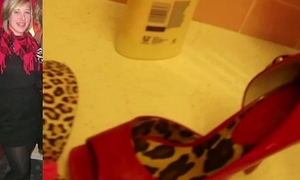 CUM ON teen neighbor heels