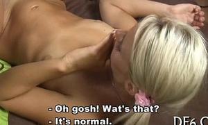 Virgin knockout masturbates