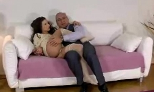 Cute young sweeping poses fingers pussy be advantageous to older British suppliant