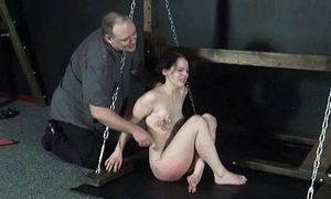 Teen amateurish bdsm increased by extreme pussy to tears be required of weirdo Kami more pain