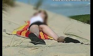 festival teen upskirt handy beach