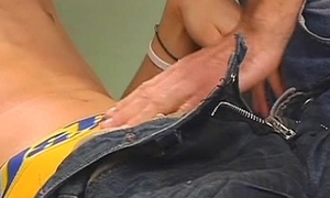 Varlet gets anal examination distance from a skilled gay practise medicine