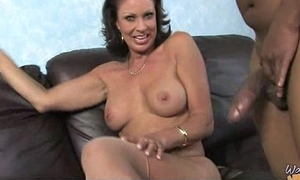 Horny MILF fucks young sulky shine and gets orgasm 29