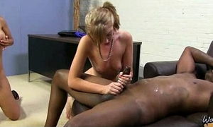Marketable MILF fucks young black stud and gets orgasm 14