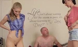 Proximal dick fetish femdom babes jerk dude
