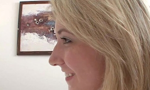 TeamSkeet Tow-haired hottie bangs her friends brother