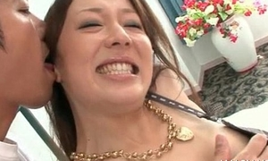Sexy asian neonate teasing with her body