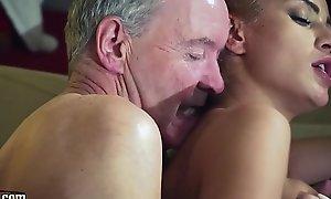 Old guy haunted by hot hawt masher in old juvenile femdom hardcore fucking