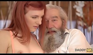 DADDY4K. Chick'_s shaved pussy is fingered hard by pop together with son in deception