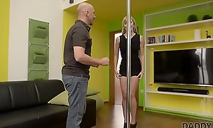 DADDY4K. Slutty teen makes love nigh BF'_s old daddy behind his back