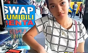 Cute bubble-butt filipina legal adulthood teenager with hairless twat screwed hard