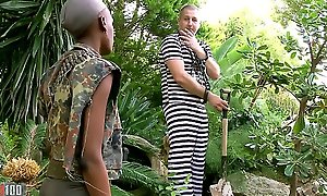 Baneful African miitary doll fucked everywhere the exasperation at the end of one's tether her prisonner