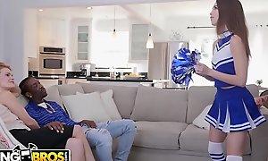 Bangbros - youthful cheerleader riley reed rides a large malicious penis