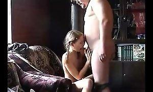 Skinny BBC slut happy by mature chap
