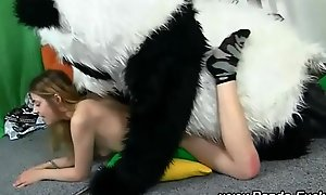 Fetish in force age teenager copulates opulent panda