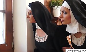 Weird mad porn with cathlic nuns and monster