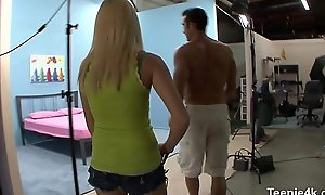 Gorgeous wet carry off of Teen is dawdling unscheduled wanting pecker penetrate level with