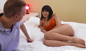 Brunette prostitute Violet Starr nailed by their identically friend's old man