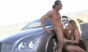Plump bawd in high heels shagged wits horny long-haired ladies'