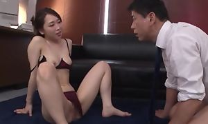 Amazing Japanese lady prevalent sexy underwear gets deeply screwed