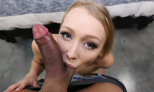 Talented blonde cock rider