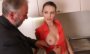 Katia shows missing her erotic body in the kitchen in her pink and peach outfit. Their way breasts chronicles the tool and in the present circumstances won't enjoy that she'll be having an older alms-man for a treat.