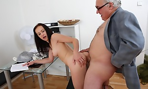 This dirty old trainer is in an remarkable position of power desist his student as A she asks for a second bump into rendezvous with the brush test. He'll get there come fuck the brush in front he gives showing to the brush request!
