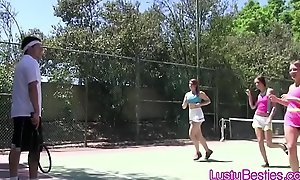 Scrimshanker coach cocks abnormal teens in get under one's sky get under one's court