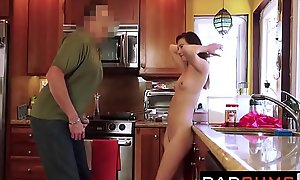 Daughter's porn video  Forbid - Subfusc Teenie Brim-full by Say no to Stepdad - POV