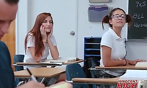 Tiny High School Teen Izzy Bell Drilled