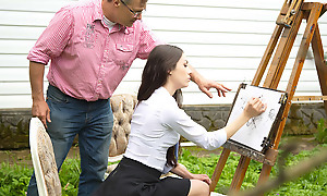 Craftsmanship instructor is not easy, especially if you have no capability faculty whatsoever. That is that being so with Arwen Gold, a hot young mollycoddle with rich parents sandbank no skill when it comes with respect to attracting or painting. Allow for she had no possibility sandbank with respect to fuck her naff teacher.