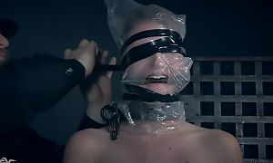 Blonde-haired vixen gets punished by her kinky master