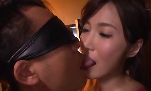 Asian give a thought to rubs say no to pussy while sucking boyfriend's cock