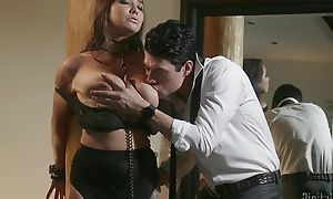 Submissive brunette takes Xander's cock in her wet pussy