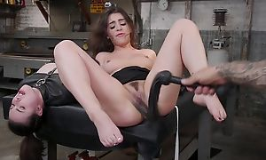Tattooed stallion dominates over several spunky brunettes