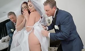 Anxious brace fucks his daughter-in-law before wedding